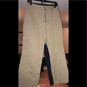 Lands end khakis with cargo pockets